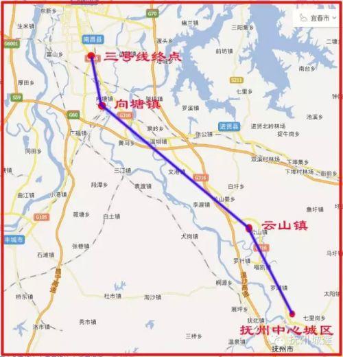 抚城际铁路连接南昌地铁三号线,线路猜想过你家门口么图片
