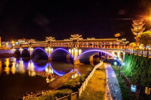 黄洲桥夜景-