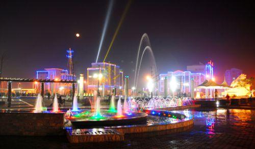 华南虎广场夜景