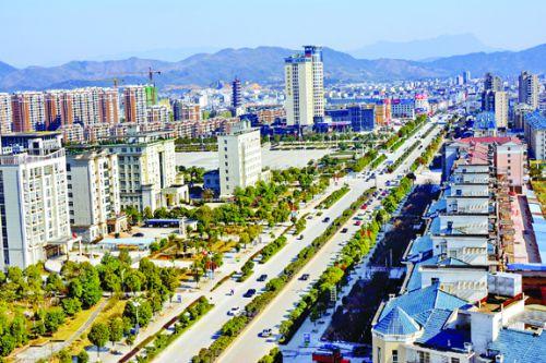 图4:美丽大气的县城新区