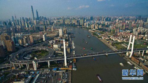 7日航拍的跨越黄浦江的上海南浦大桥.新华社发(  摄) -CNN评世