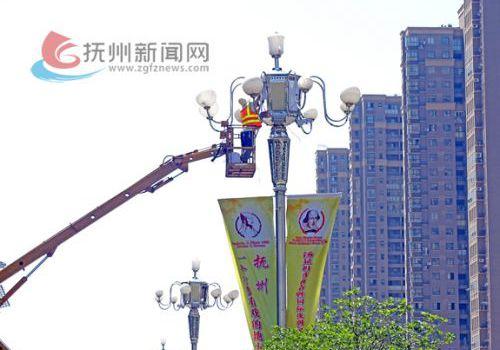 喜迎汤显祖戏剧节城区大面积更新路灯