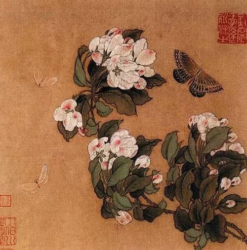 宋 佚名《海棠蛱蝶图》