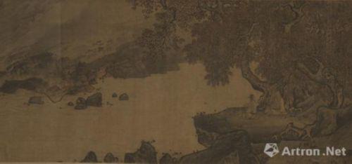 南宋李唐的《濠梁秋水图卷》局部