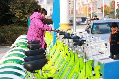 乐安公共自行车正式投入运营