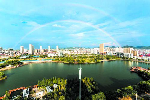 千子湖雙彩虹