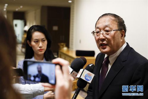 (國際·圖文互動)(2)中國常駐聯合國代表張軍就人權問題接受中外媒體采訪